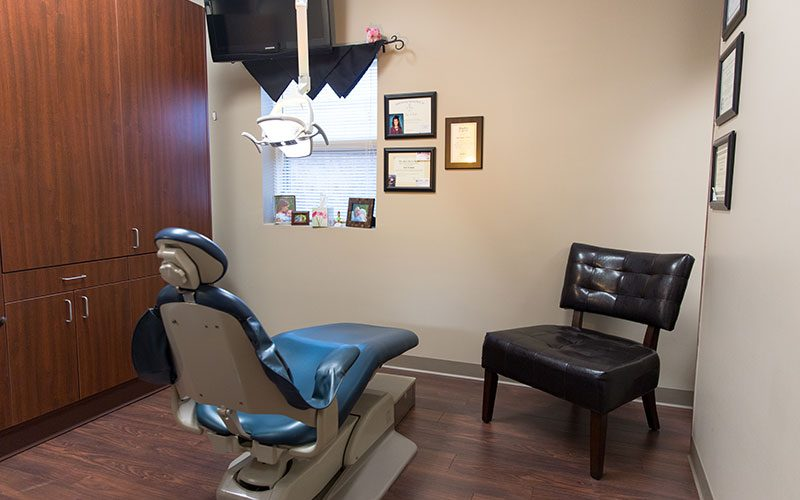 Dental Chair inside the Operatory Section at Hawkins Complete Dental Service in Zanesville, OH
