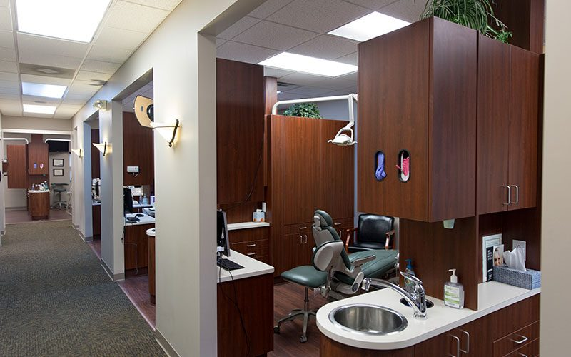 Operatory Sections inside Hawkins Complete Dental Service in Zanesville, OH