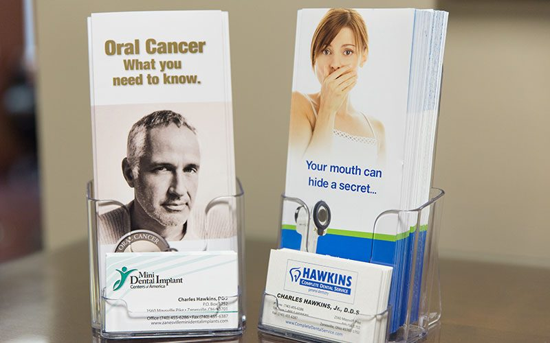 Business Cards and Brochures at Hawkins Complete Dental Service in Zanesville, OH